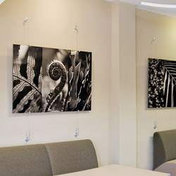 Wire Hung Artwork | Seil- / Seilspannsysteme | Gyford StandOff Systems®