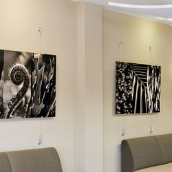Wire Suspended Artwork | Curtain cable systems | Gyford StandOff Systems®