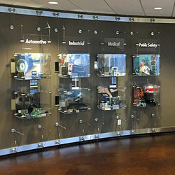 Wire Suspended Display | Vitrinas / Expositores | Gyford StandOff Systems®