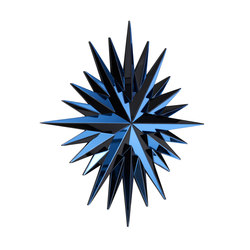 Super Star blue black | Wall decoration | Reflections by Hugau/Larsson