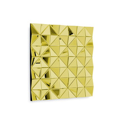 Stella Square yellow gold | Wall decoration | Reflections by Hugau/Larsson