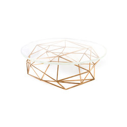 Archimedes Bronze Coffee Table w| Glass Top | Mesas de centro | Matthew Shively