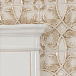 Vine Relief Glazed Ceramic Tile | Ceramic tiles | Pratt & Larson Ceramics