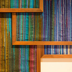Custom Hand Woven Fabric Panels | Décoration murale | Leslie Ann Wigon Art & Design