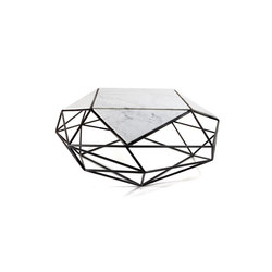 Archimedes Steel Coffee Table w| Marble Inlay | Mesas de centro | Matthew Shively