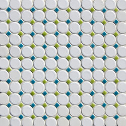 "1"" Circle with Dots Mosaic 