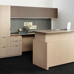 Aerial Refreshed Casegoods | Standing desks | Nucraft