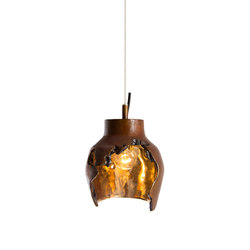 Decay Pendant 01 in French Brown, Pot Ash & Polished Bronze | General lighting | Matthew Shively