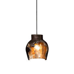 Decay Pendant 01 in Pot Ash & Polished Bronze | Illuminazione generale | Matthew Shively