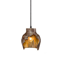 Decay Pendant 01 in Silver Nitrate & Polished Bronze | General lighting | Matthew Shively