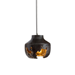 Decay Pendant 02 in Pot Ash & Polished Bronze | Iluminación general | Matthew Shively