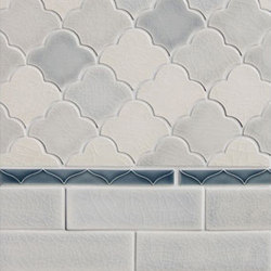 Mosaic Scalloped Fan Glazed Ceramic Tile | Keramik Mosaike | Pratt & Larson Ceramics