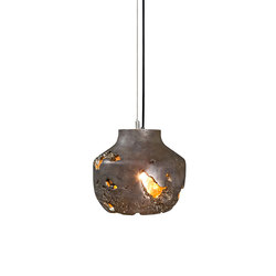 Decay Pendant 02 in Silver Nitrate & Polished Bronze | General lighting | Matthew Shively
