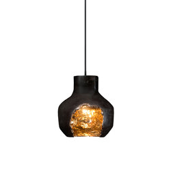 Decay Pendant 03 in Pot Ash & Polished Bronze | General lighting | Matthew Shively