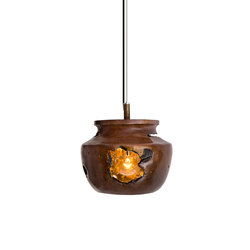 Decay Pendant 04 in French Brown, Pot Ash & Polished Bronze | General lighting | Matthew Shively