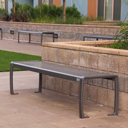 MLB970B-M Backless Bench | Exterior benches | Maglin Site Furniture