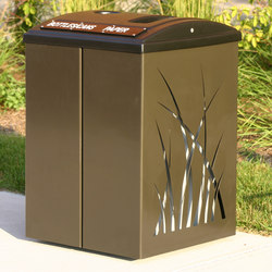 MLB970W Trash Container | Corbeilles | Maglin Site Furniture