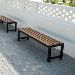 MLB400B-W Backless Bench | Exterior benches | Maglin Site Furniture
