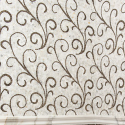 Lace Curve with Calacatta and Blue Lagos | Natural stone wall tiles | AKDO