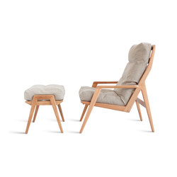 Ana Lounge Chair / Footstool | Poltrone lounge | Sossego