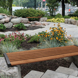 MLB720BL-W Backless Legless Bench | Bancs publics | Maglin Site Furniture