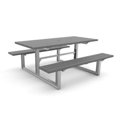 MLPT210-S-RG Cluster Seating | Benches with tables | Maglin Site Furniture