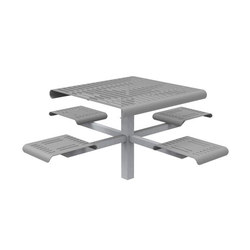 MLPT400-DB-BM Cluster Seating | Bancs avec tables | Maglin Site Furniture