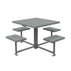 MLPT400 Series | Benches with tables | Maglin Site Furniture