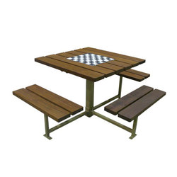 MLPT400-S-W-WCA-GB Cluster Seating | Benches with tables | Maglin Site Furniture
