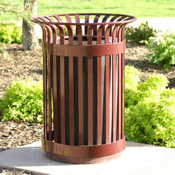 MLWR200-32-ST Trash Container | Cubos de basura | Maglin Site Furniture