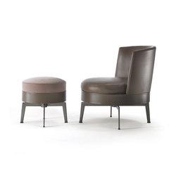 Feel Good swivel armchair/ottoman | Lounge chairs | Flexform