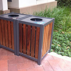 MLWR400-25-W Trash Container | Cubos basura / Papeleras | Maglin Site Furniture