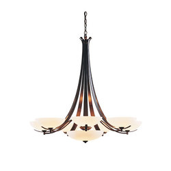 Aegis 7 Arm Chandelier | Ceiling suspended chandeliers | Hubbardton Forge