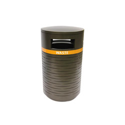 MLWR650-32-M-L4-LBK Trash Container | Exterior bins | Maglin Site Furniture