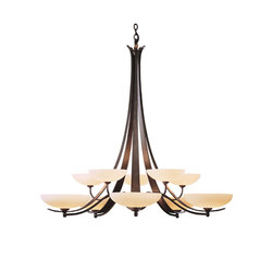 Aegis 10 Arm Chandelier | Ceiling suspended chandeliers | Hubbardton Forge