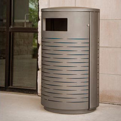 MLWR650-32-M-L4-LBE Trash Container | Exterior bins | Maglin Site Furniture