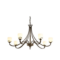Aubrey 7 Arm Chandelier | Ceiling suspended chandeliers | Hubbardton Forge