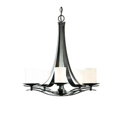 Berceau 5 Arm Chandelier | Ceiling suspended chandeliers | Hubbardton Forge
