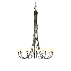 Flora 12 Arm Chandelier | Ceiling suspended chandeliers | Hubbardton Forge