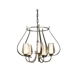 Flora 5 Arm Chandelier | Ceiling suspended chandeliers | Hubbardton Forge