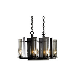 New Town 6 Arm Chandelier | Ceiling suspended chandeliers | Hubbardton Forge