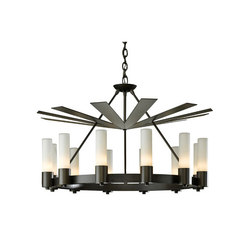 Piccadilly 12 Light Chandelier | Ceiling suspended chandeliers | Hubbardton Forge
