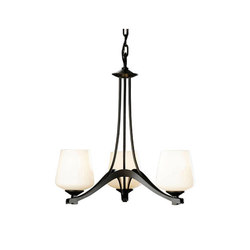 Ribbon 3 Arm Chandelier | Ceiling suspended chandeliers | Hubbardton Forge