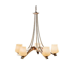 Ribbon 5 Arm Chandelier | Deckenlüster | Hubbardton Forge