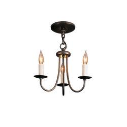 Simple Lines 3 Arm Chandelier | Lámparas de techo | Hubbardton Forge