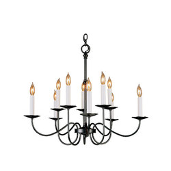 Simple Lines 10 Arm Chandelier | Lustres suspendus | Hubbardton Forge