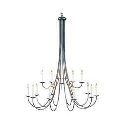 Simple Lines 15 Arm Chandelier   Ceiling suspended chandeliers   Hubbardton Forge