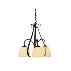 Sweeping Taper 3 Arm Chandelier | Ceiling suspended chandeliers | Hubbardton Forge