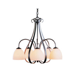 Sweeping Taper 5 Arm Chandelier | Ceiling suspended chandeliers | Hubbardton Forge