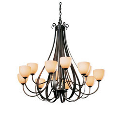 Sweeping Taper 12 Arm Chandelier | Deckenlüster | Hubbardton Forge